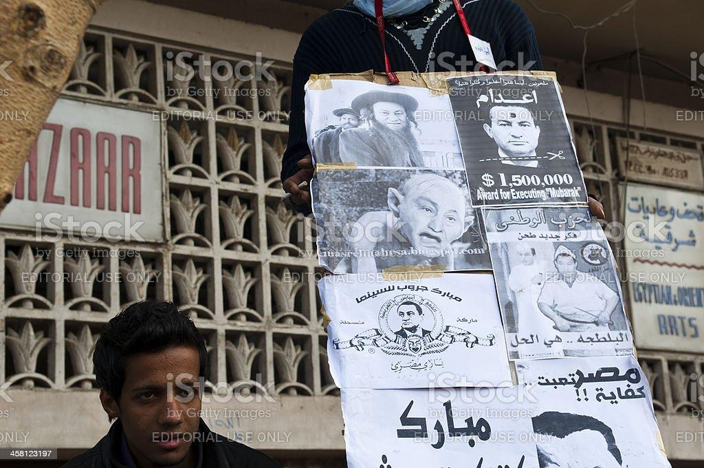 Mubarak mocked in Egypt royalty-free stock photo