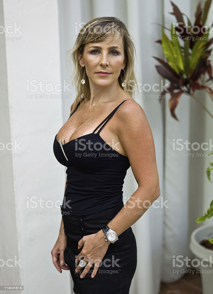 Much better at her forties stock photo