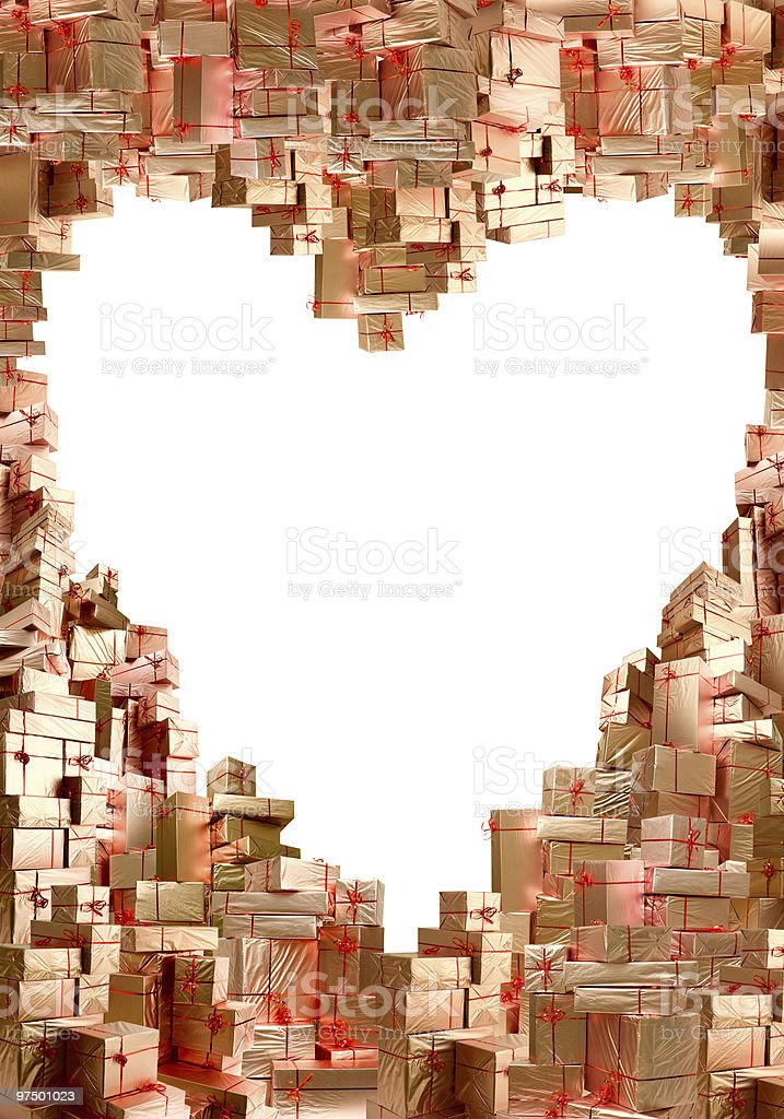 Much gifts in the manner of heart royalty-free stock photo