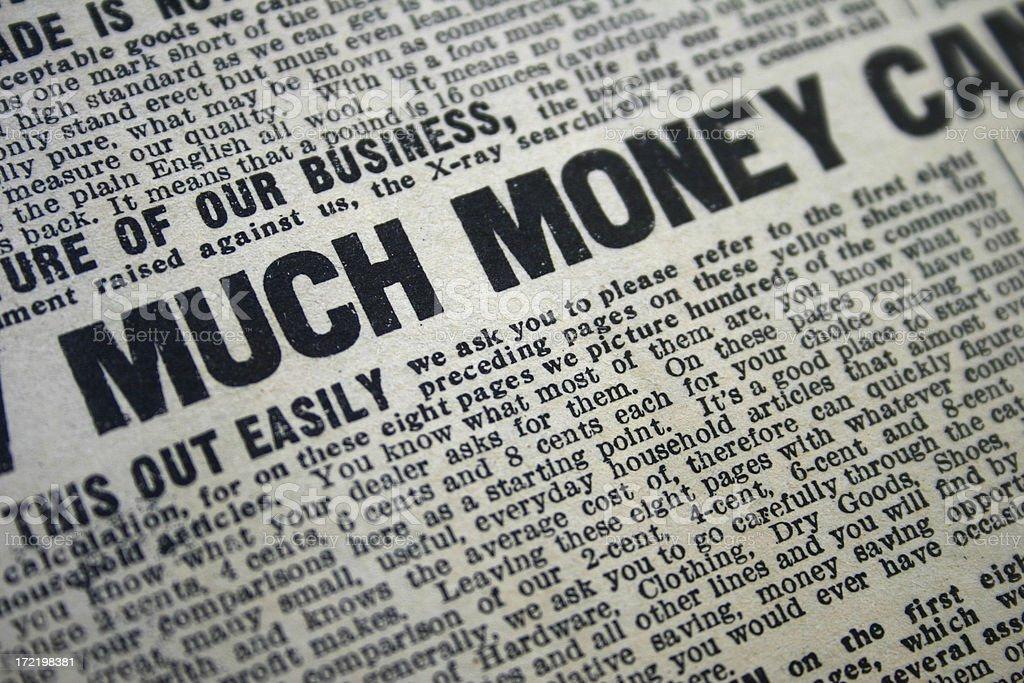 Much Money royalty-free stock photo
