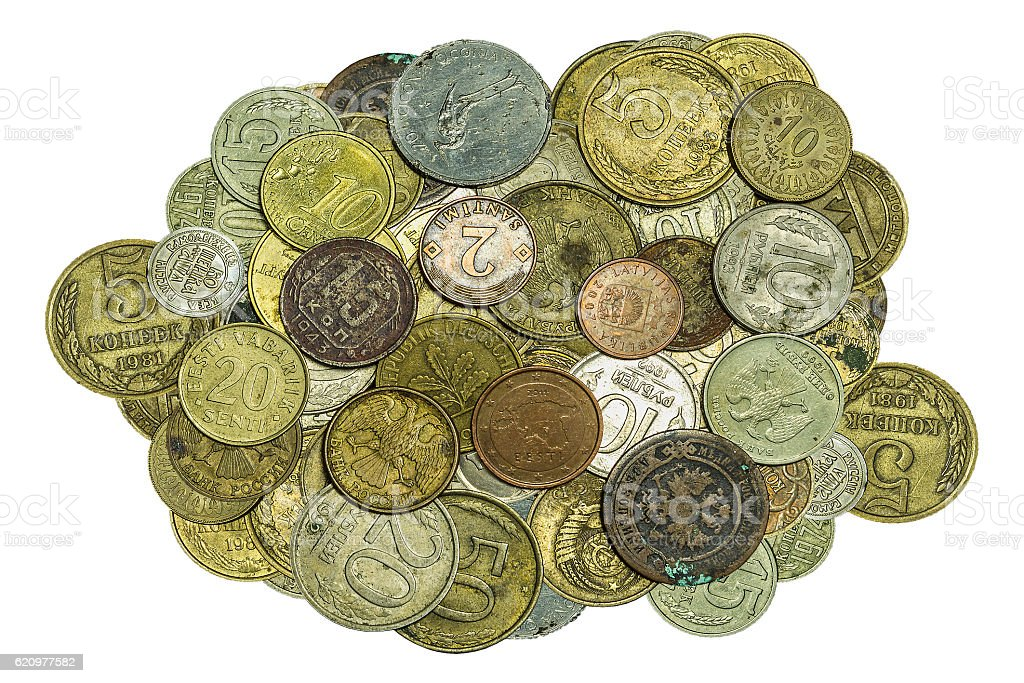 Much old metallic coins foto royalty-free
