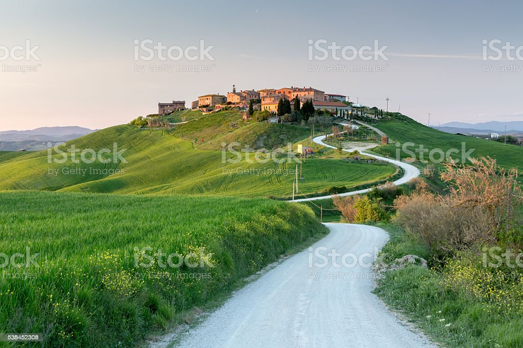 Mucigliani village in Tuscany stock photo