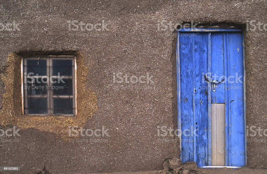 Mud and straw house Syria stock photo