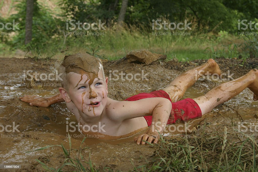 Mud Bath royalty-free stock photo