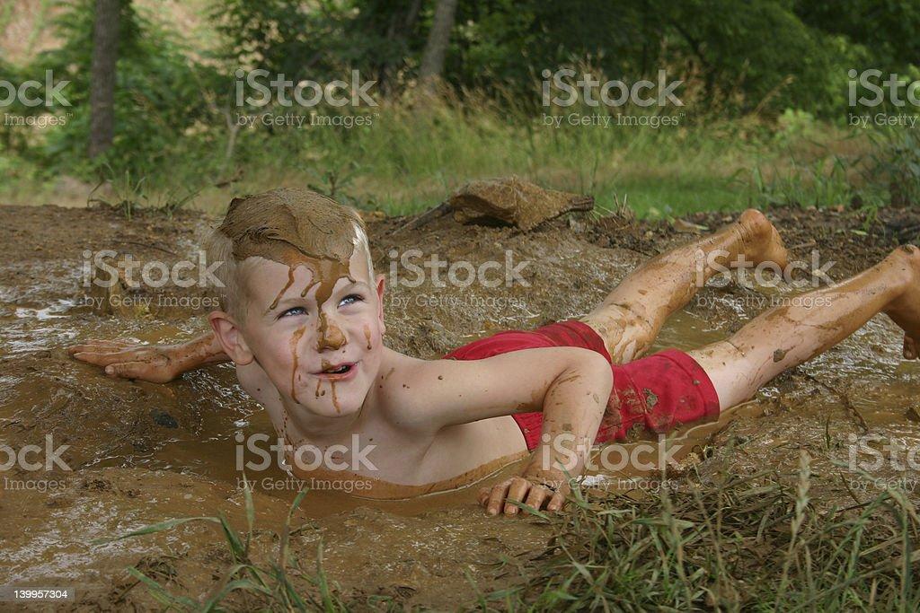 Mud Bath stock photo