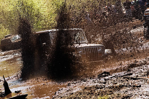 mud bogging - mud stock photos and pictures