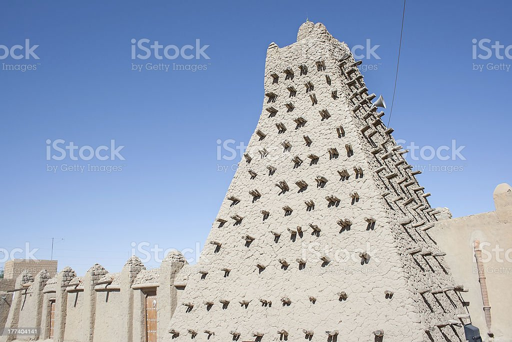 Mud brick mosque in Timbuktu, Mali, Africa. stock photo