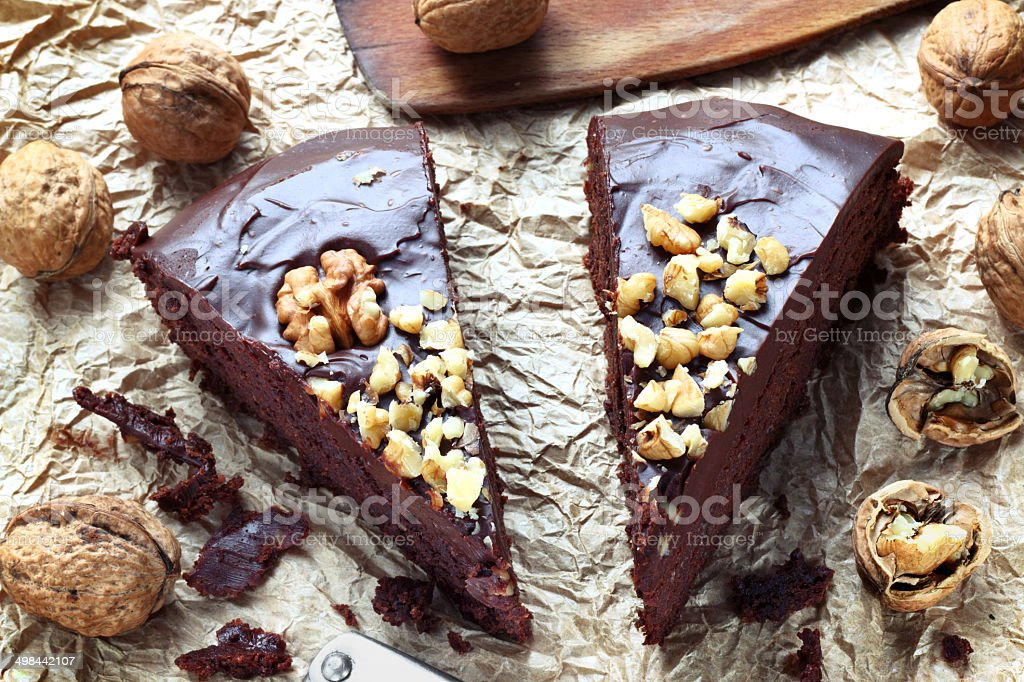 Mud chocolate cake stock photo