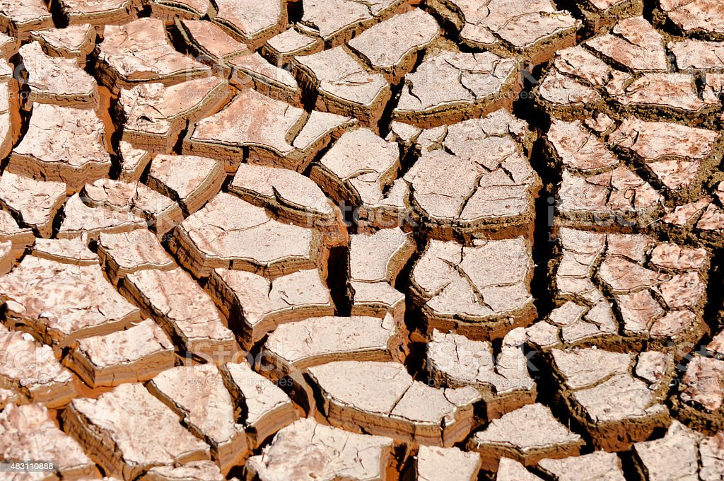 Mud Cracks stock photo