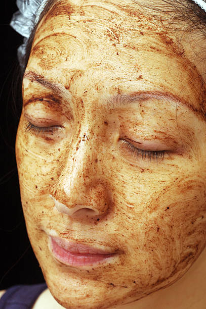Mud Facial Treatment stock photo