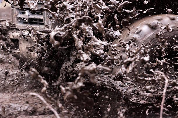 Mud Fling stock photo
