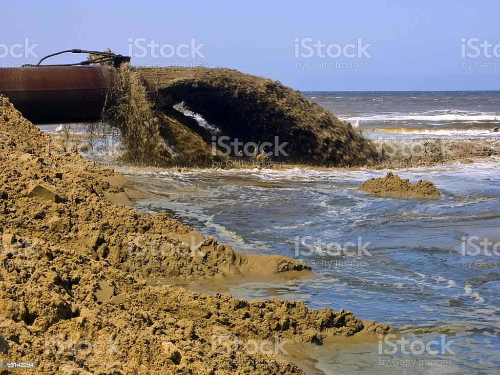 Mud Flow from a Pipeline royalty-free stock photo