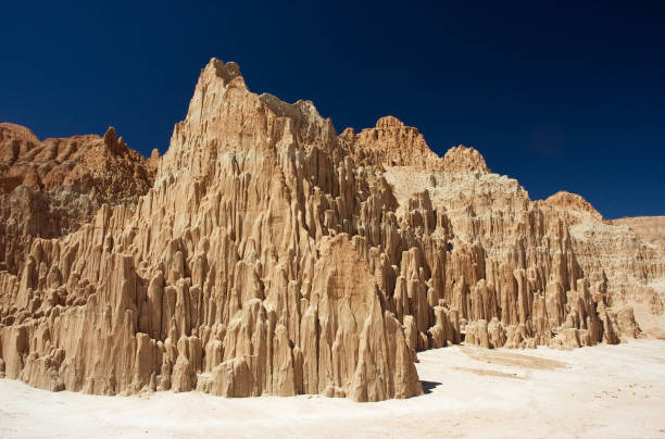Mud formations at Cathedral Gorge, Nevada stock photo