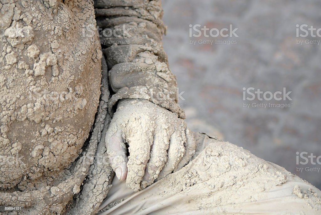 Mud man royalty-free stock photo