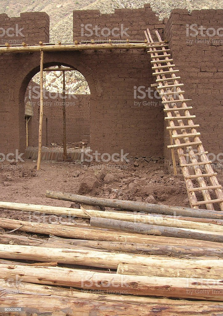 Mud Mansion royalty-free stock photo