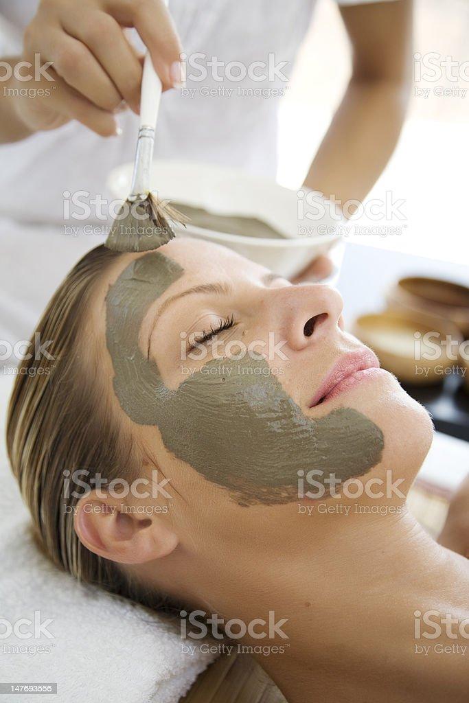 mud mask royalty-free stock photo