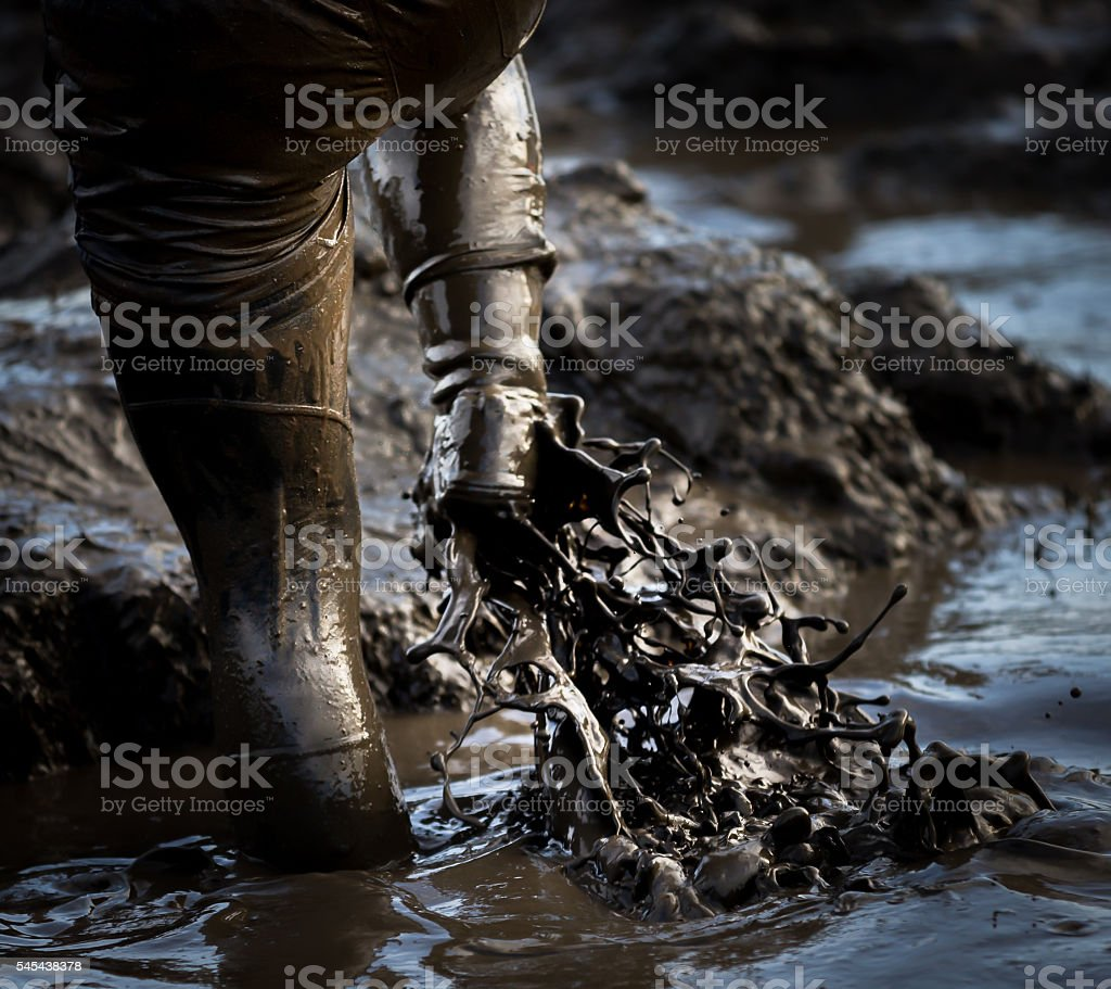 Mud mud glorious mud stock photo