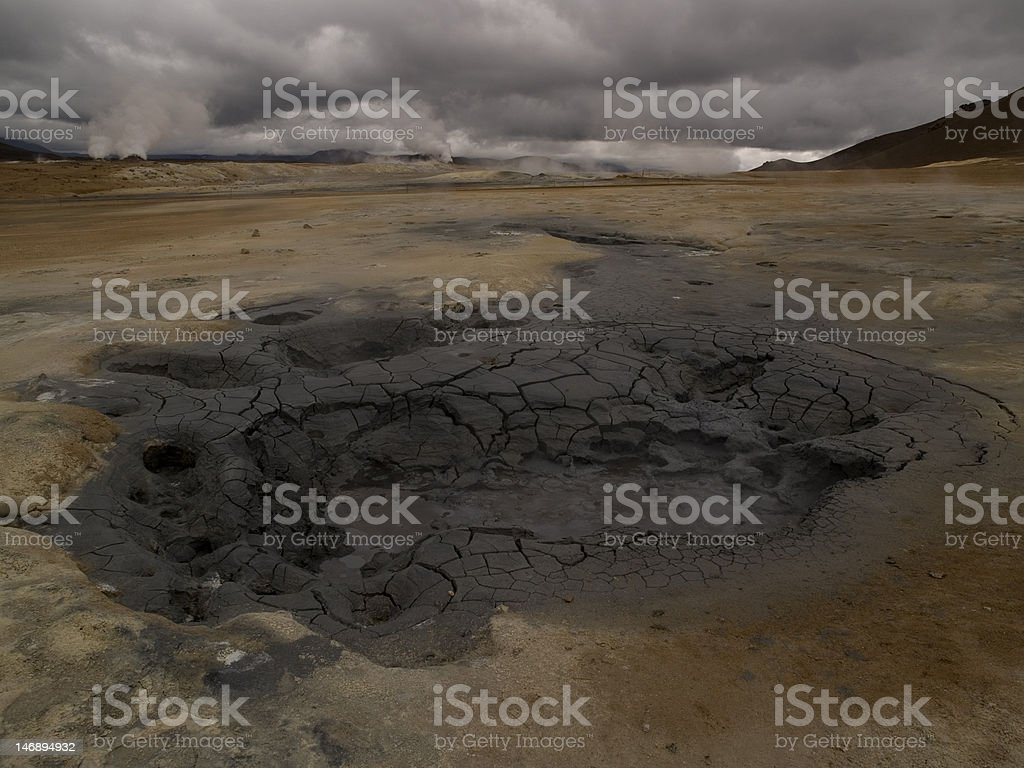 Mud Pot royalty-free stock photo