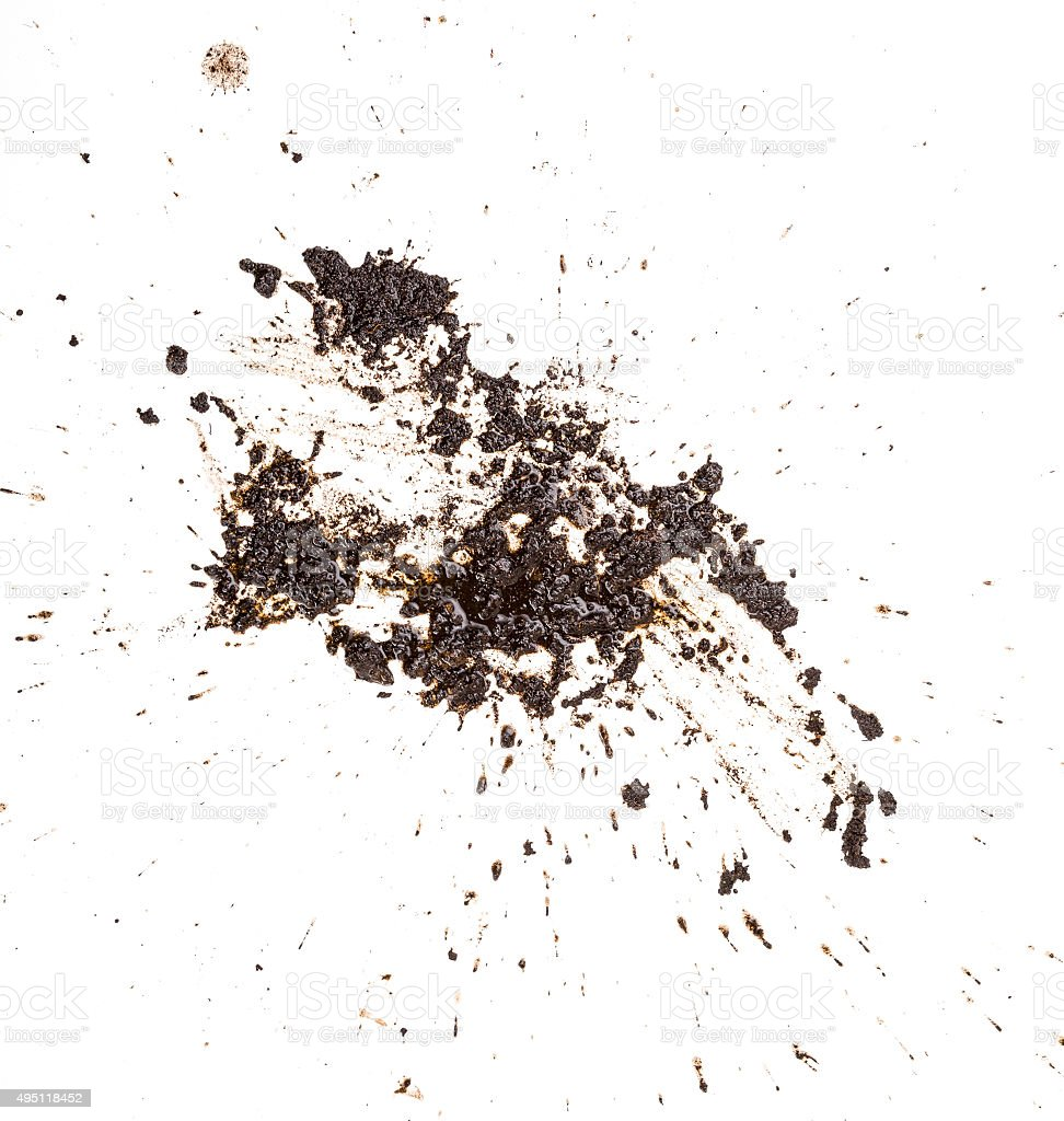 Mud splat pattern isolated on a white background stock photo