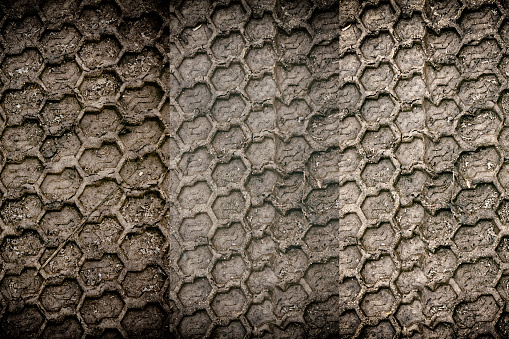 istock Mud texture or wet black soil as natural organic clay 983544498