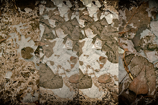 istock Mud texture or wet black soil as natural organic clay 995519496