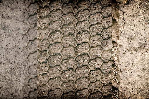 istock Mud texture or wet black soil as natural organic clay 995528442
