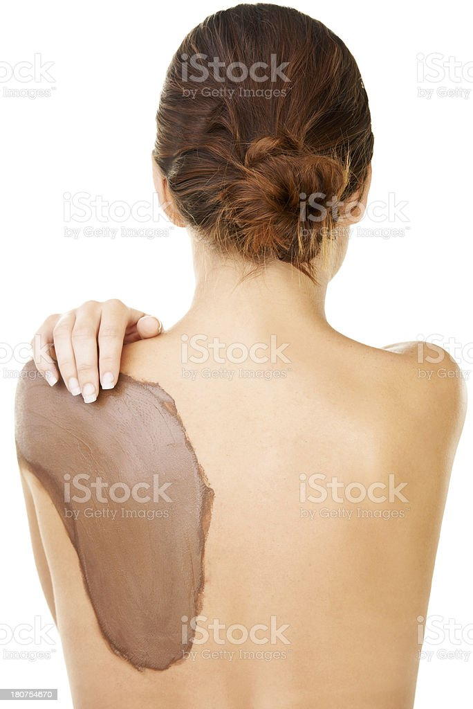 Mud therapy is great for the skin royalty-free stock photo