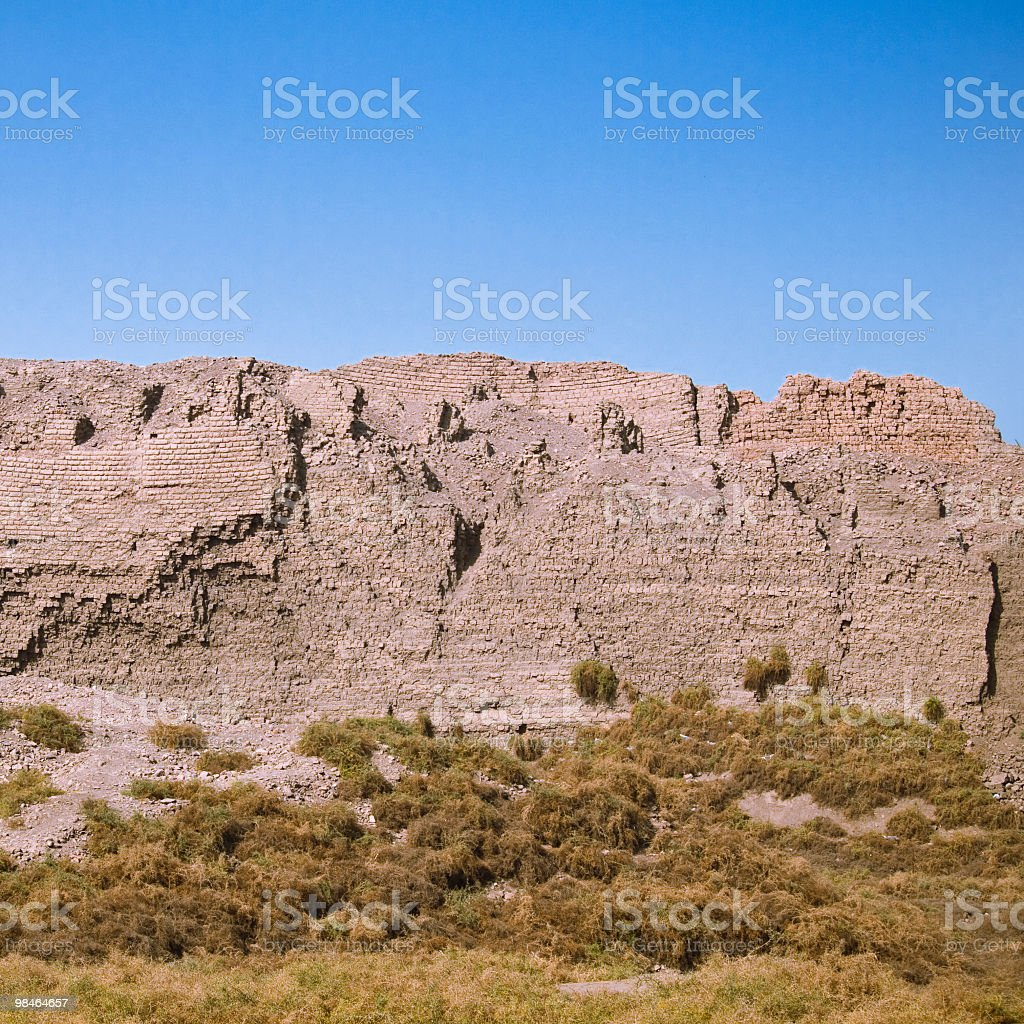 머드 벽 하토르 관자놀이, 덴데라 니어 이집트 룩소르 royalty-free 스톡 사진