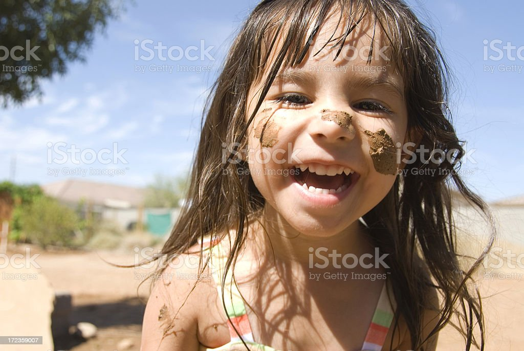 Muddy and Happy royalty-free stock photo