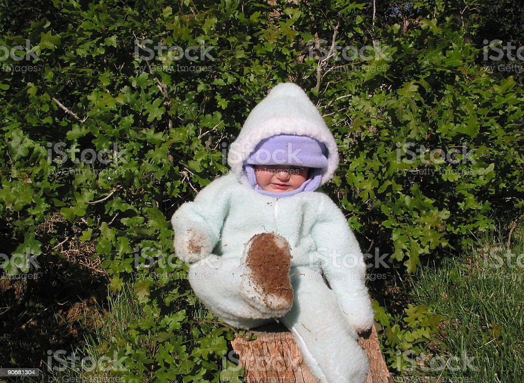 Muddy Baby stock photo
