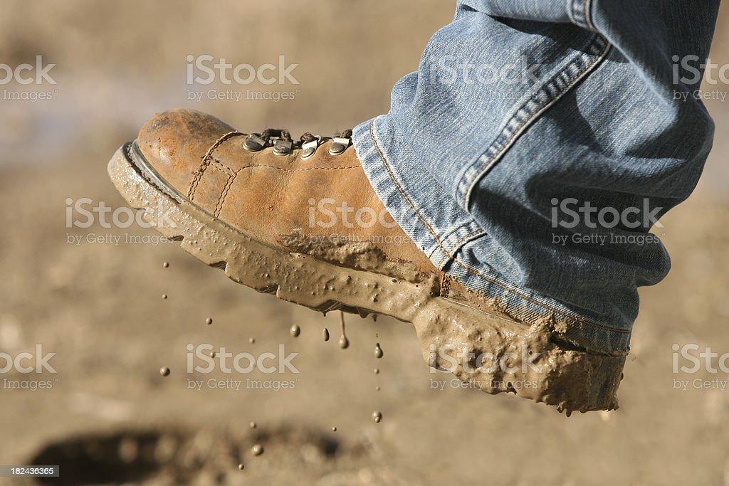 Muddy Boot stock photo