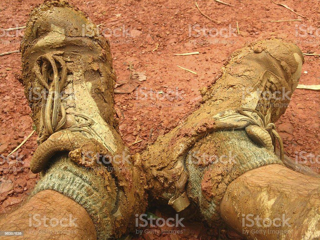 muddy boots royalty-free stock photo
