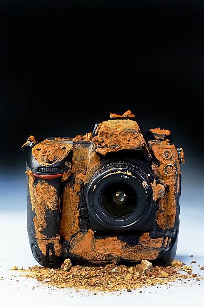 Muddy Camera. stock photo