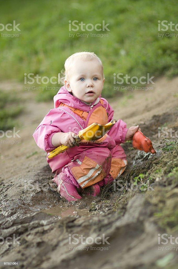 Muddy Child royalty-free stock photo