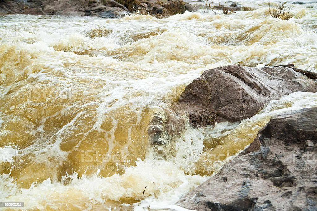 Muddy flooded river royalty-free stock photo