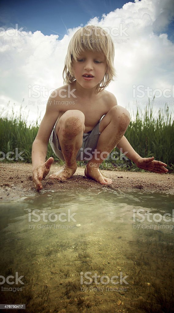 Muddy fun royalty-free stock photo