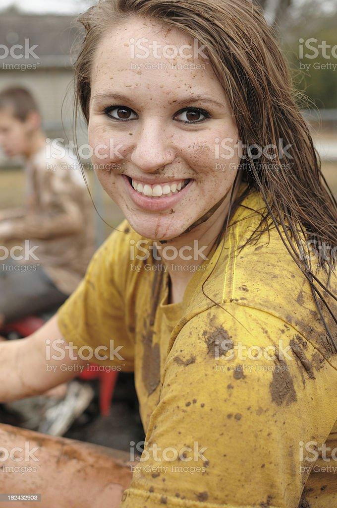 Muddy girl royalty-free stock photo