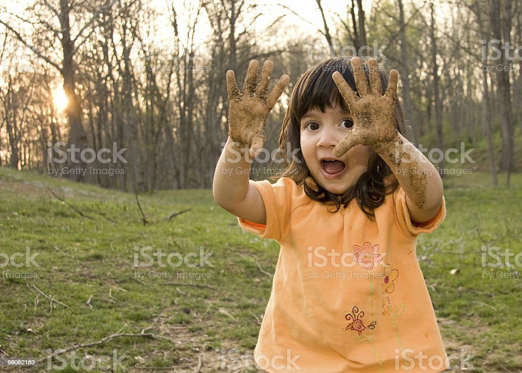 Muddy Hands royalty-free stock photo