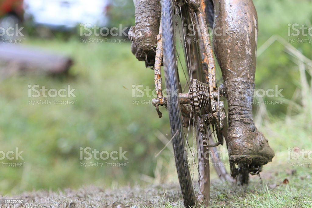 Muddy Leg stock photo