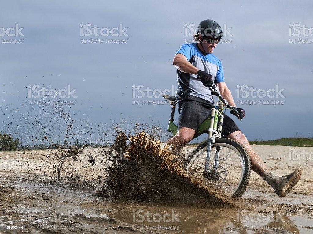 Muddy Mountain Biker royalty-free stock photo