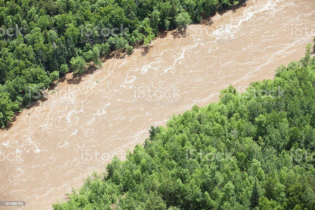 Muddy River Overflowing Banks royalty-free stock photo