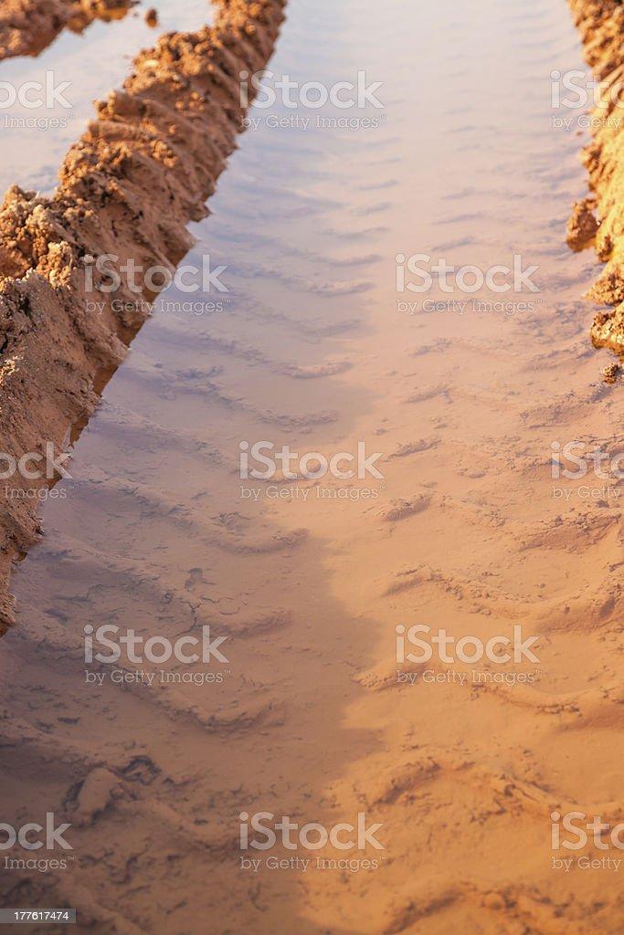 muddy road royalty-free stock photo