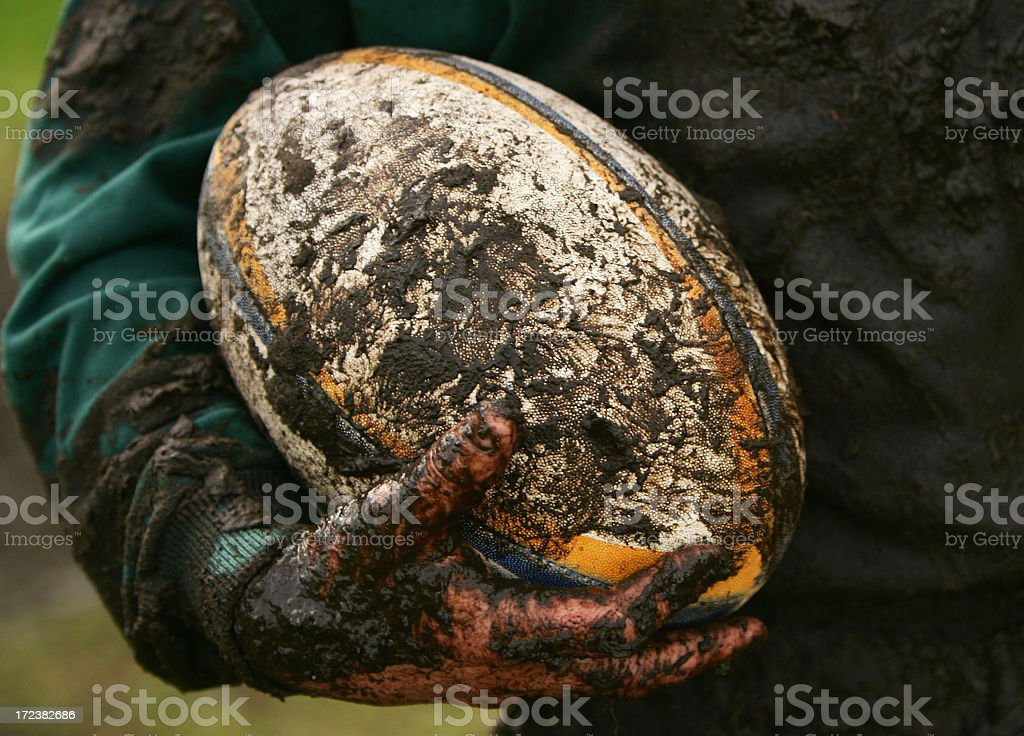 Muddy Rugby stock photo