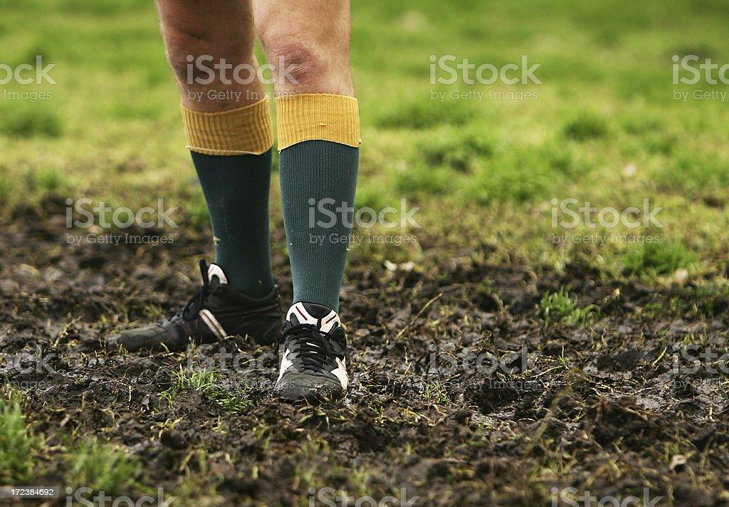 Muddy Rugby stock photo