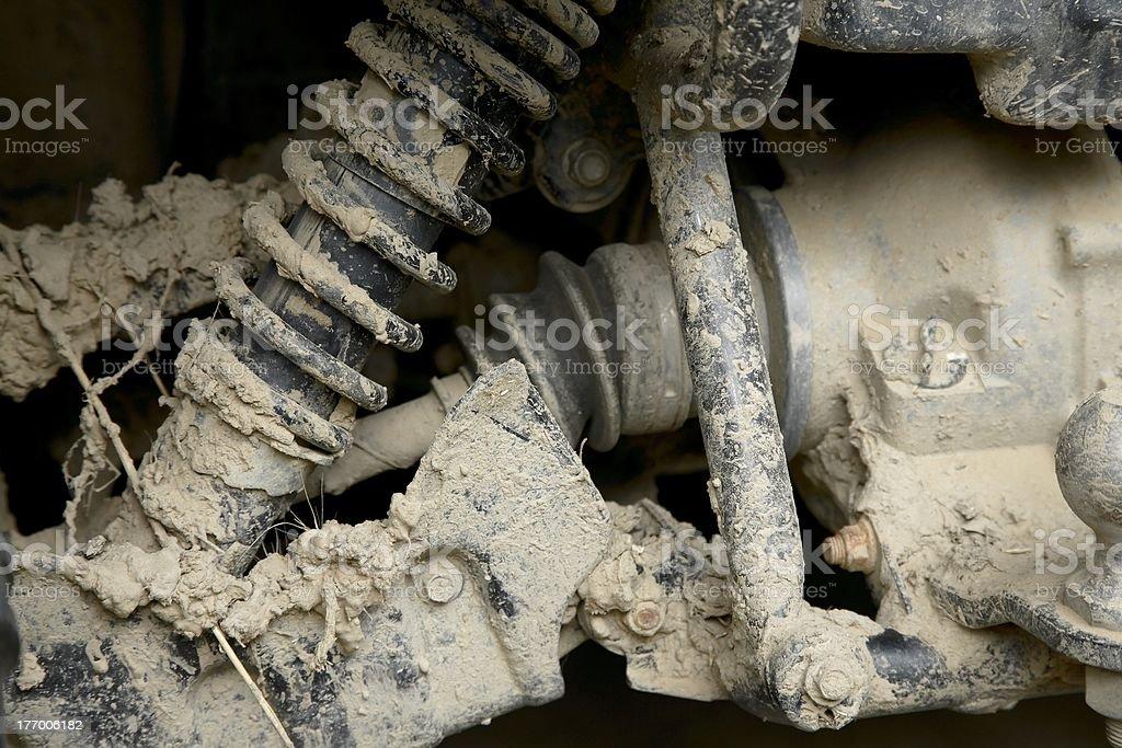 Muddy suspension royalty-free stock photo