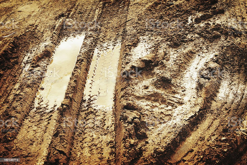 Muddy Track royalty-free stock photo