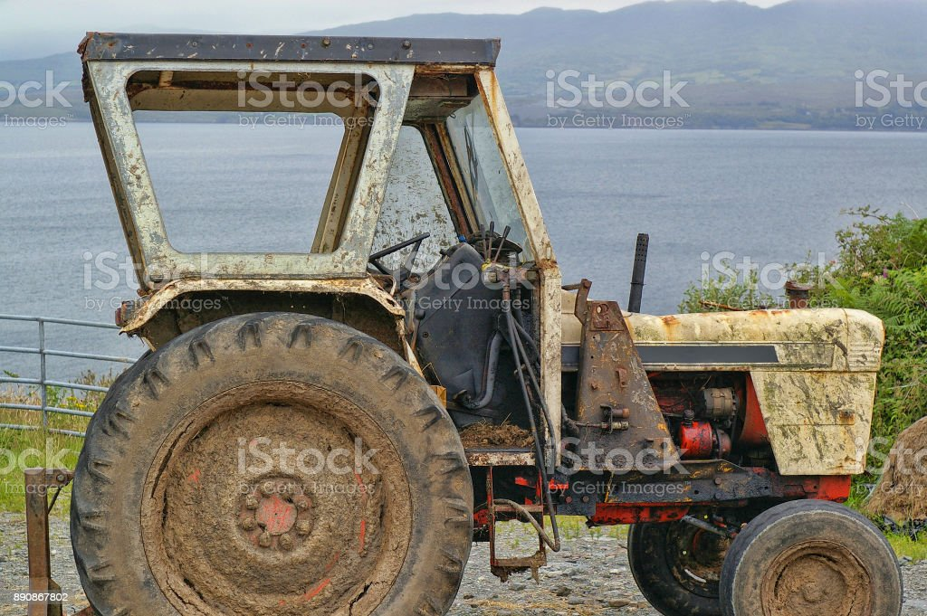 Muddy Tractor stock photo