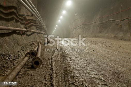 istock Muddy tunnel with high humidity 172482807