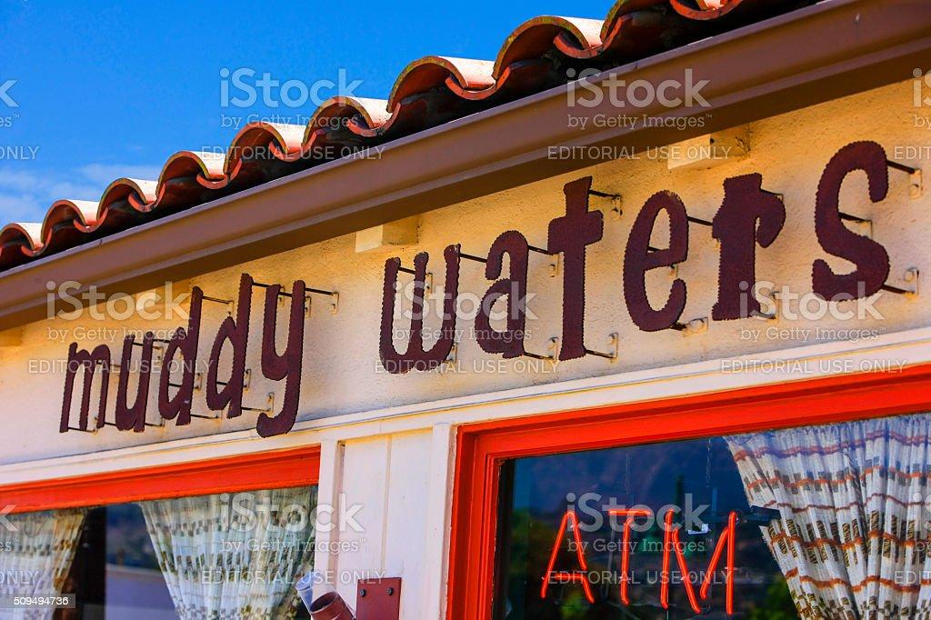 Muddy Waters coffee House in downtown Santa Barbara, California stock photo