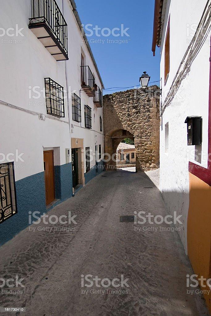 Mudejar door to the village, Sabiote royalty-free stock photo
